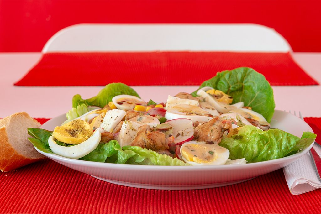 Hühnerstreifensalat