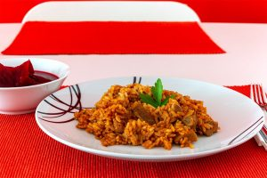 Reisfleisch von der Schweinsschulter